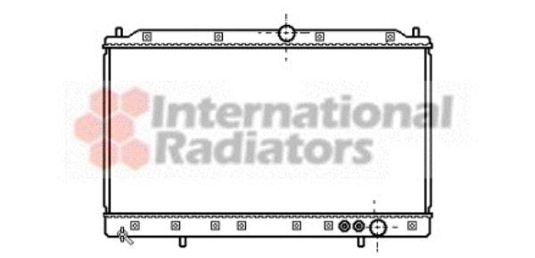 Radiateur, refroidissement du moteur - VAN WEZEL - 32002084