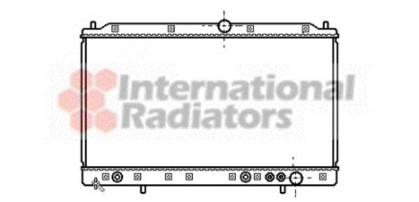 Radiateur, refroidissement du moteur - VAN WEZEL - 32002085