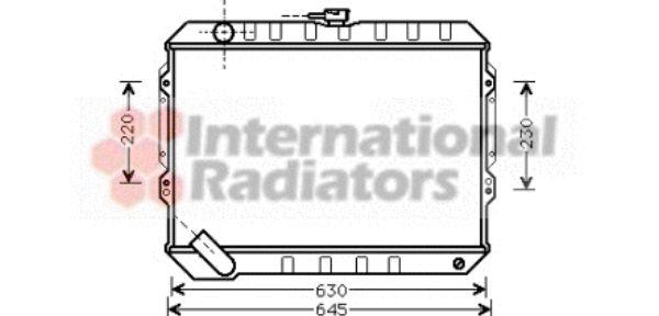 Radiateur, refroidissement du moteur - VAN WEZEL - 32002088