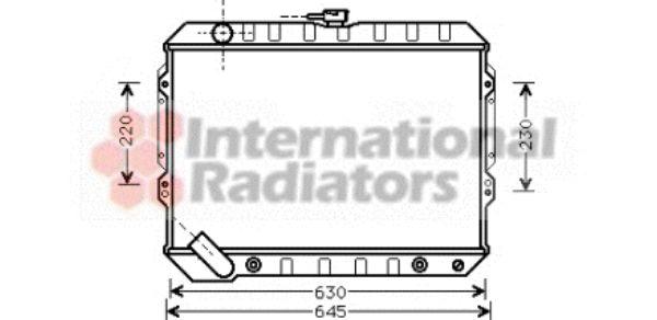 Radiateur, refroidissement du moteur - VAN WEZEL - 32002089