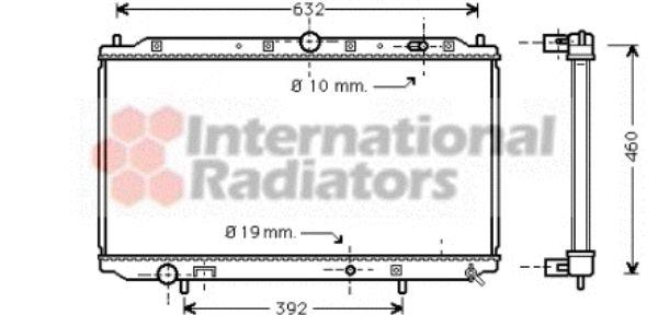 Radiateur, refroidissement du moteur - VAN WEZEL - 32002101