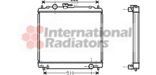 Radiateur, refroidissement du moteur - VAN WEZEL - 32002109