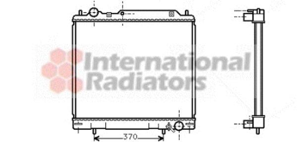 Radiateur, refroidissement du moteur - VAN WEZEL - 32002110