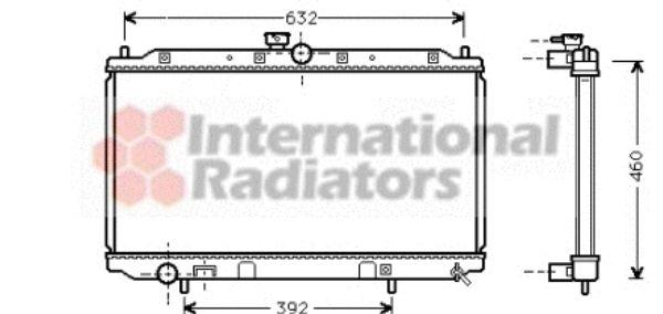 Radiateur, refroidissement du moteur - VAN WEZEL - 32002111