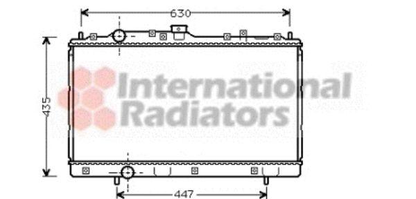Radiateur, refroidissement du moteur - VAN WEZEL - 32002113