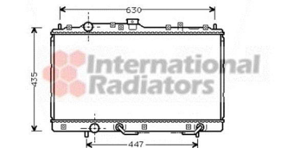 Radiateur, refroidissement du moteur - VAN WEZEL - 32002114