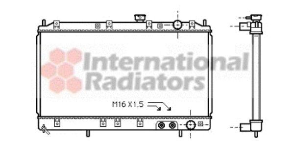Radiateur, refroidissement du moteur - VAN WEZEL - 32002117