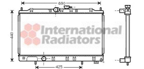 Radiateur, refroidissement du moteur - VAN WEZEL - 32002122