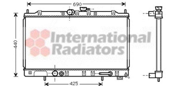 Radiateur, refroidissement du moteur - VAN WEZEL - 32002123