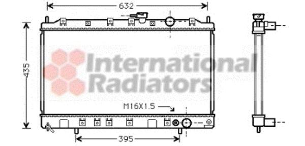 Radiateur, refroidissement du moteur - VAN WEZEL - 32002126