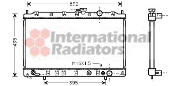 Radiateur, refroidissement du moteur - VAN WEZEL - 32002127