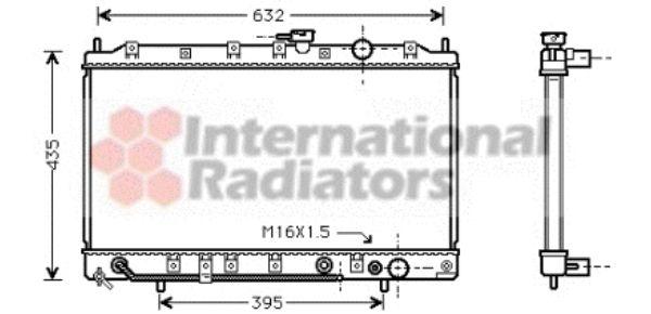 Radiateur, refroidissement du moteur - VAN WEZEL - 32002128