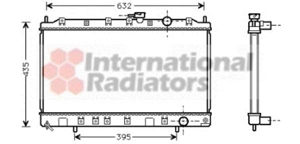 Radiateur, refroidissement du moteur - VAN WEZEL - 32002131