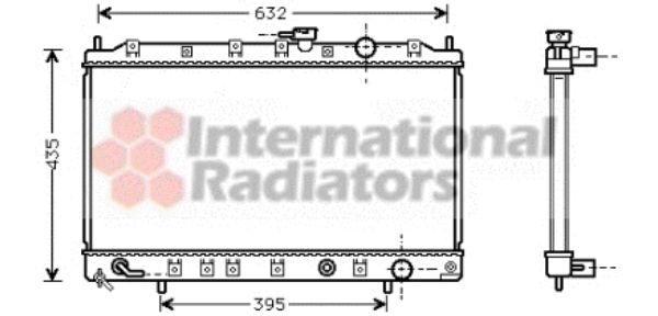 Radiateur, refroidissement du moteur - VAN WEZEL - 32002133