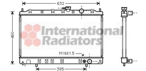 Radiateur, refroidissement du moteur - VAN WEZEL - 32002134