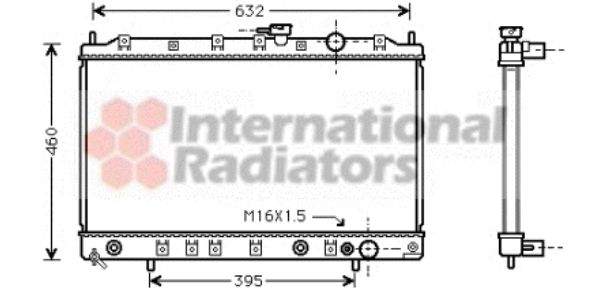 Radiateur, refroidissement du moteur - VAN WEZEL - 32002135