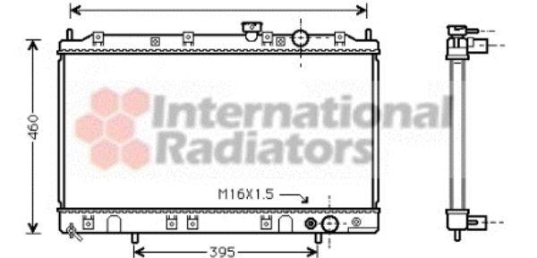Radiateur, refroidissement du moteur - VAN WEZEL - 32002136