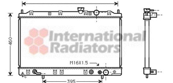 Radiateur, refroidissement du moteur - VAN WEZEL - 32002137