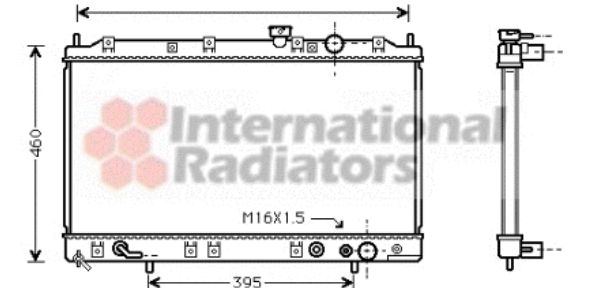 Radiateur, refroidissement du moteur - VWA - 88VWA32002137