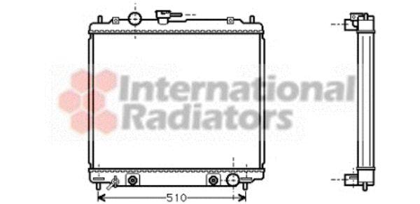 Radiateur, refroidissement du moteur - VAN WEZEL - 32002138