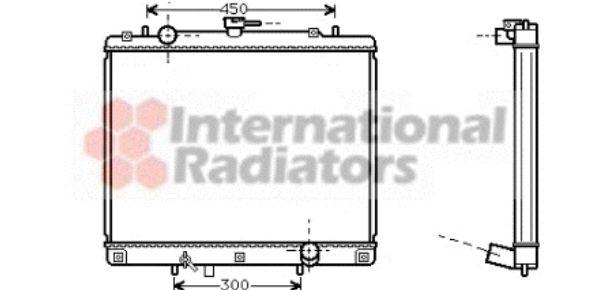 Radiateur, refroidissement du moteur - VAN WEZEL - 32002140