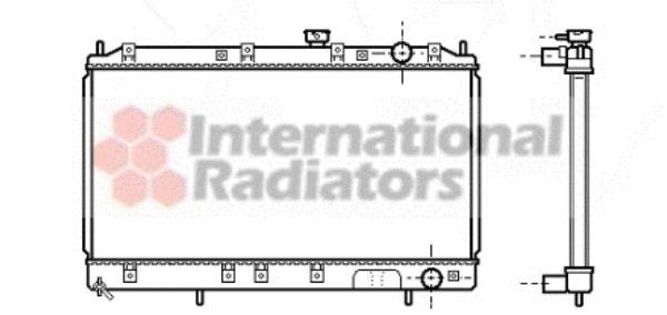 Radiateur, refroidissement du moteur - VAN WEZEL - 32002141