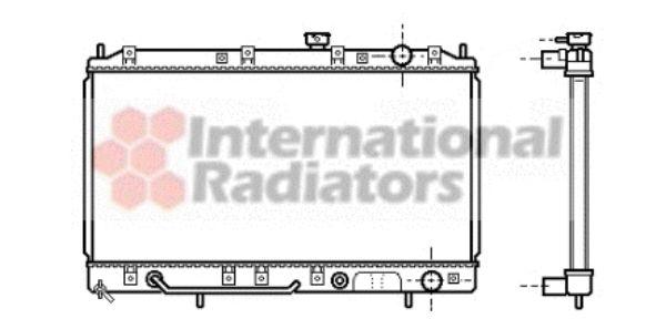 Radiateur, refroidissement du moteur - VAN WEZEL - 32002143