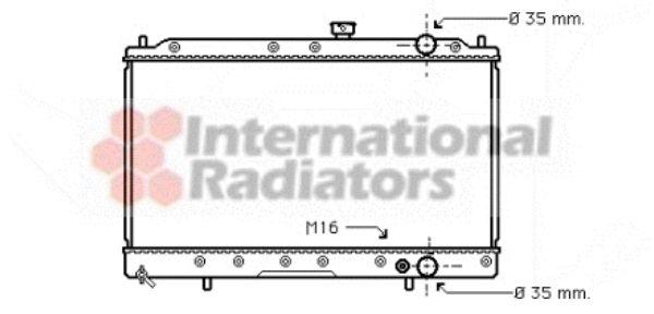 Radiateur, refroidissement du moteur - VAN WEZEL - 32002147