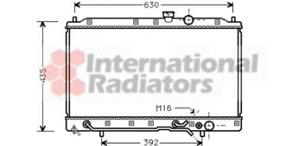 Radiateur, refroidissement du moteur - VAN WEZEL - 32002148