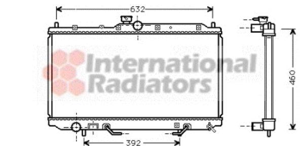 Radiateur, refroidissement du moteur - VAN WEZEL - 32002153