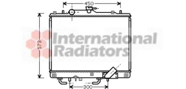 Radiateur, refroidissement du moteur - VAN WEZEL - 32002156