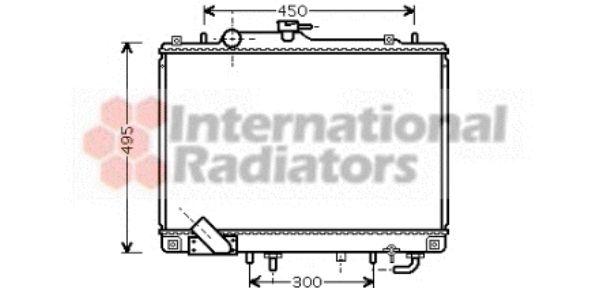 Radiateur, refroidissement du moteur - VAN WEZEL - 32002157