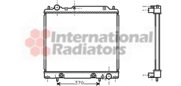 Radiateur, refroidissement du moteur - VAN WEZEL - 32002158