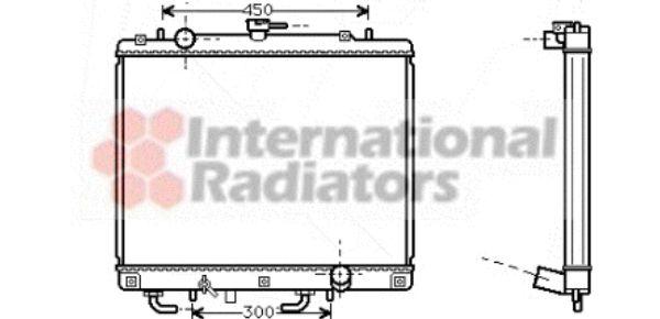 Radiateur, refroidissement du moteur - VAN WEZEL - 32002160