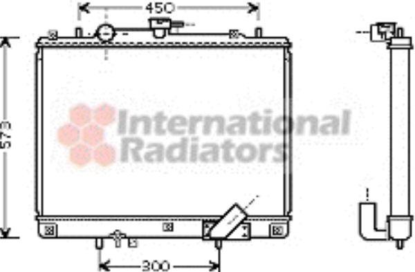 Radiateur, refroidissement du moteur - VAN WEZEL - 32002162