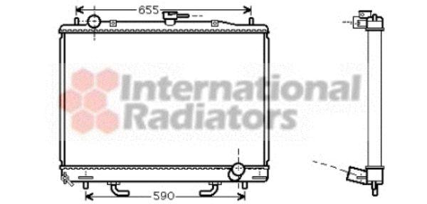 Radiateur, refroidissement du moteur - VAN WEZEL - 32002163