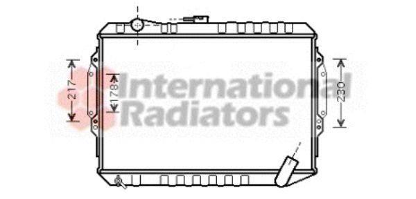 Radiateur, refroidissement du moteur - VAN WEZEL - 32002164