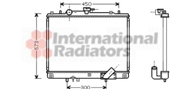 Radiateur, refroidissement du moteur - VAN WEZEL - 32002167