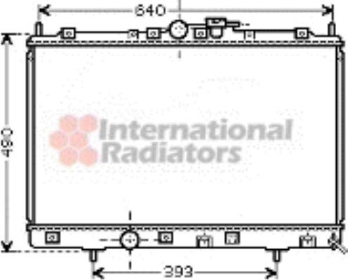 Radiateur, refroidissement du moteur - VAN WEZEL - 32002169