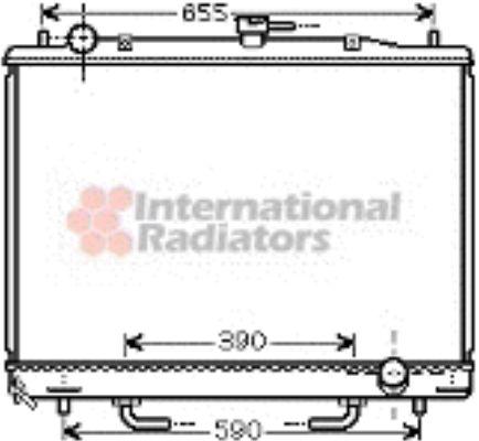 Radiateur, refroidissement du moteur - VAN WEZEL - 32002170