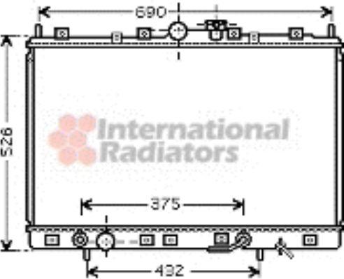 Radiateur, refroidissement du moteur - VAN WEZEL - 32002171