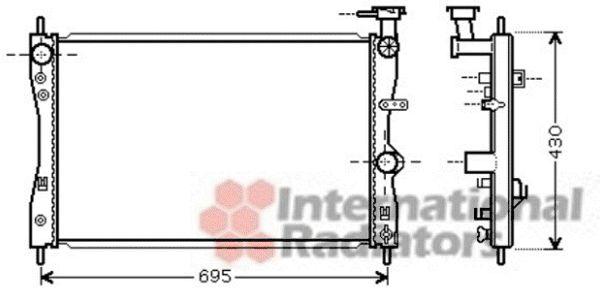 Radiateur, refroidissement du moteur - VAN WEZEL - 32002172