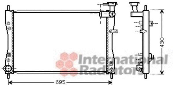 Radiateur, refroidissement du moteur - VAN WEZEL - 32002173