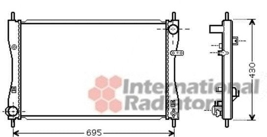 Radiateur, refroidissement du moteur - VAN WEZEL - 32002174