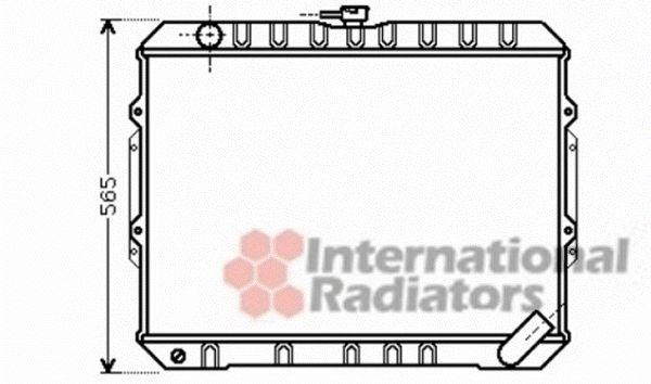 Radiateur, refroidissement du moteur - VAN WEZEL - 32002187