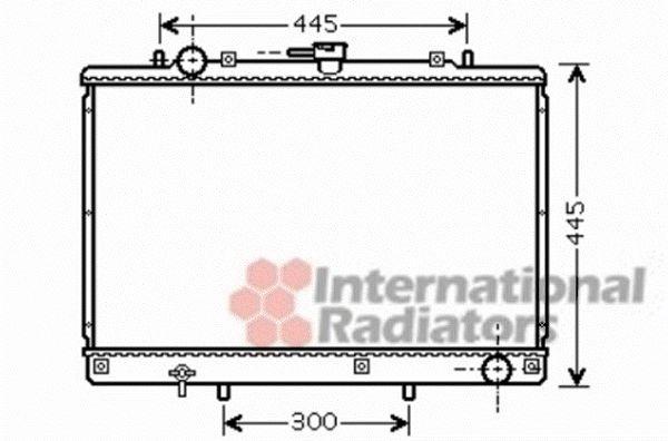 Radiateur, refroidissement du moteur - VAN WEZEL - 32002188