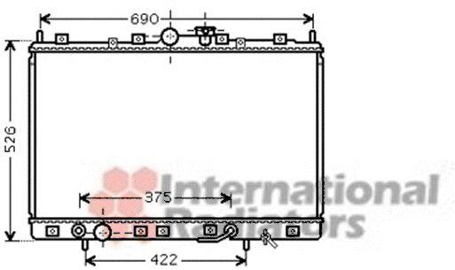 Radiateur, refroidissement du moteur - VAN WEZEL - 32002190