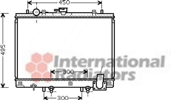 Radiateur, refroidissement du moteur - VAN WEZEL - 32002192