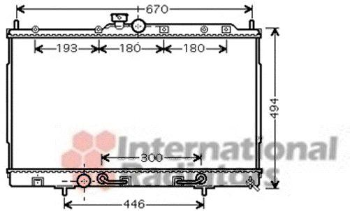 Radiateur, refroidissement du moteur - VAN WEZEL - 32002197