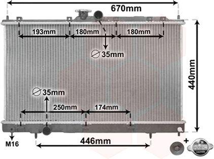 Radiateur, refroidissement du moteur - VAN WEZEL - 32002199